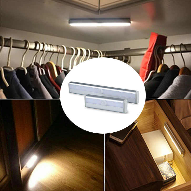 EeeToo LED Strip Light Tape PIR Infrared Sensor Lamp Battery Powered For Wardrobe Cupboard Closet Kitchen Corridor TV Lighting