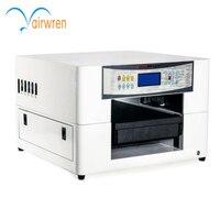 Beste kwaliteit full kleur uv led flatbed inkjet printer met witte inkt
