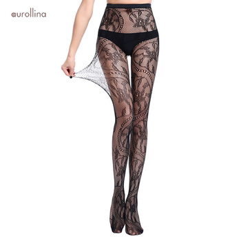 Fishnet Pantimedias Jacquard Patterns Tights Gothic Charming Adult Woman Sexy Full Legs Pantyhose Lingerie Stockings Russia