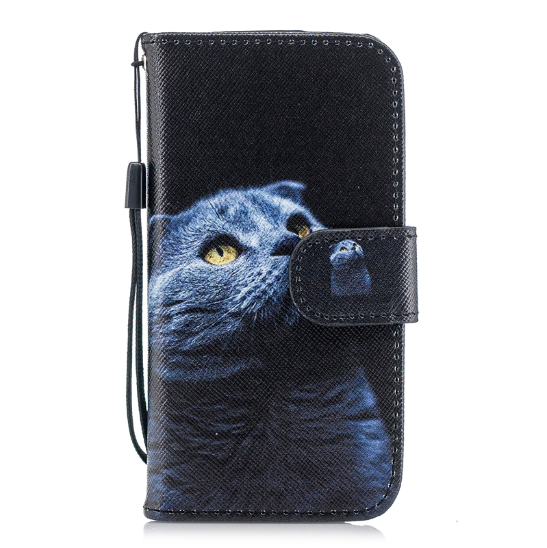 sFor Coque iPhone 5S Case Cute Cat Panda Flamingo Leather Flip Wallet Phone Cases For iPhone