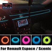 Для Renault Espace 3 4 5/Grand Scenic 2 3 4/гибкий Неон Холодный Свет/9 М EL Провода Автомобилей Центрального Управления Регистрации Декоративные газа