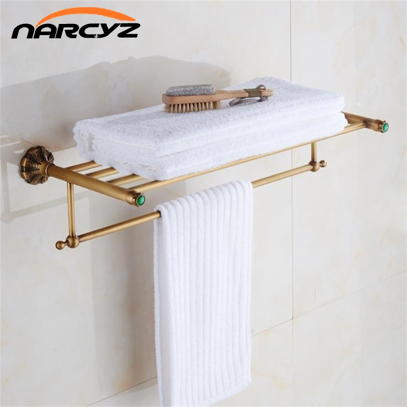 New Arrival Bathroom Accessories Classic Antique bronze/Gold/Black Finish Bathroom Towel Rack Bar Shelf (Wall Mounted) 9085K
