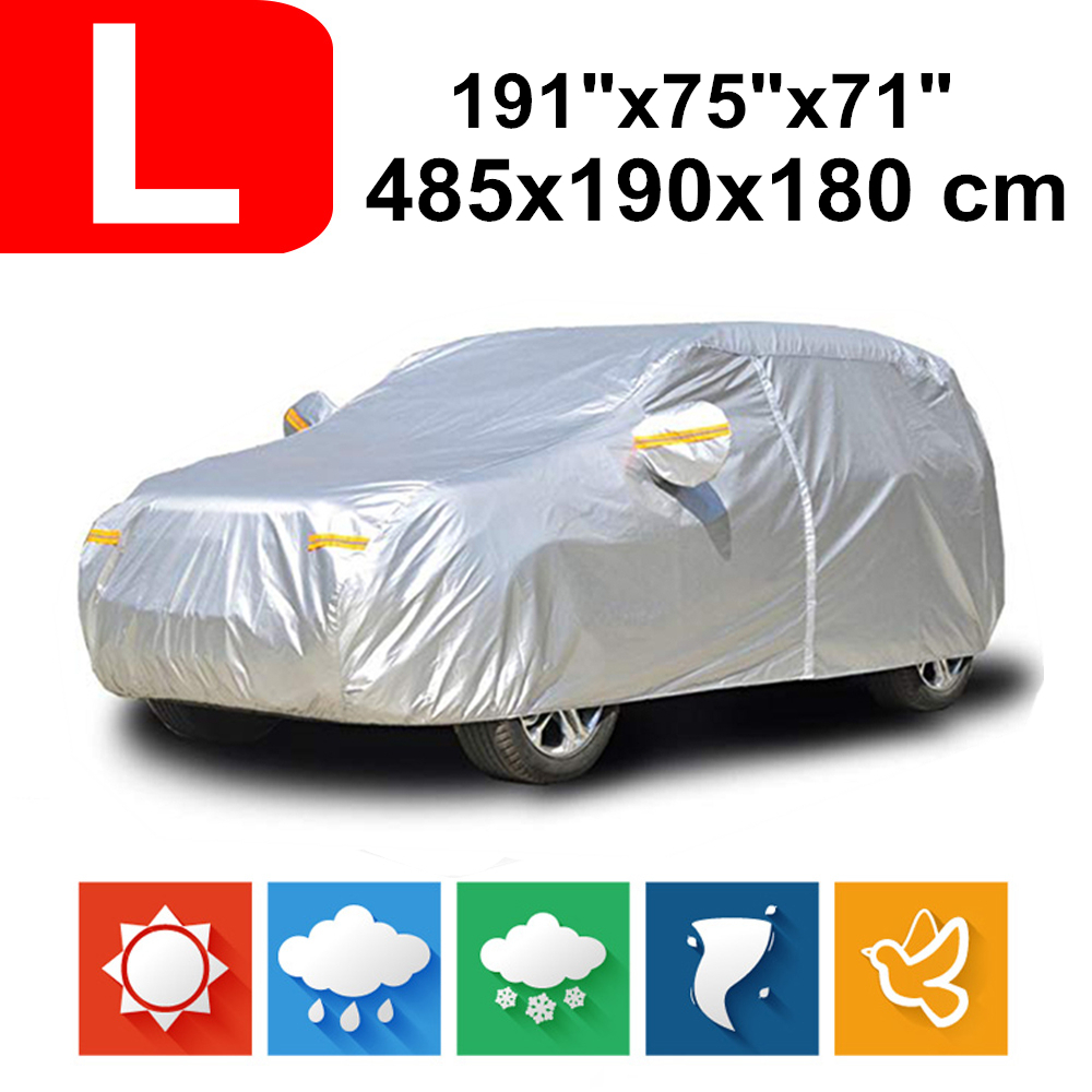 485x190x180 Universal SUV 190T Waterproof Car Covers Dust Rain Snow UV Protection For Toyota Fortuner Rav4