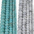 Wholesale 4 6 8 10 12 Natural Stone Green Turquoise Beads White Howlite Beads For Making DIY Bracelet Necklace Jewelry