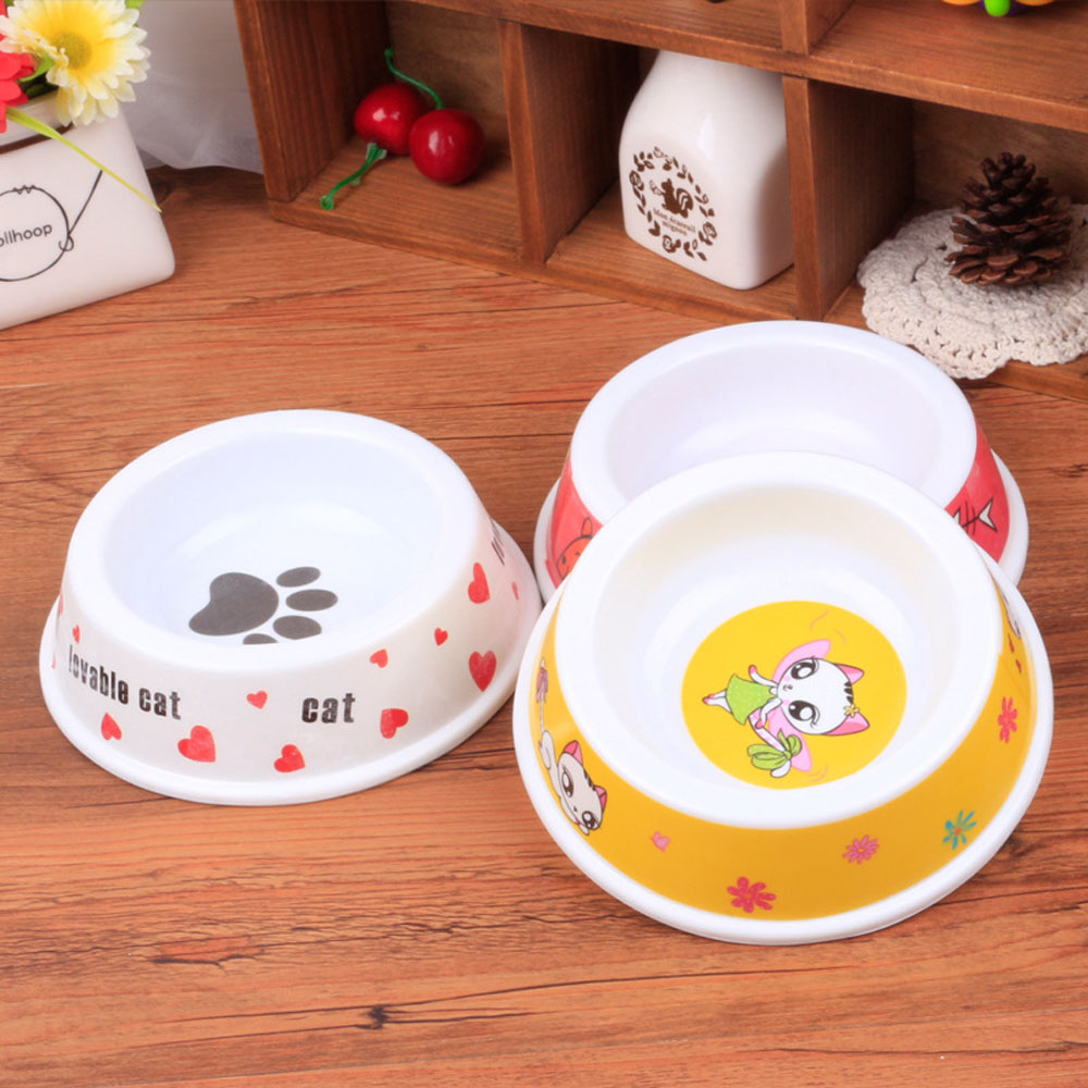 Lovely Cat Shape Cat Bowls Anti slip Melamine Pet Dog Puppy Kitten Food Feeding Bowl Pet