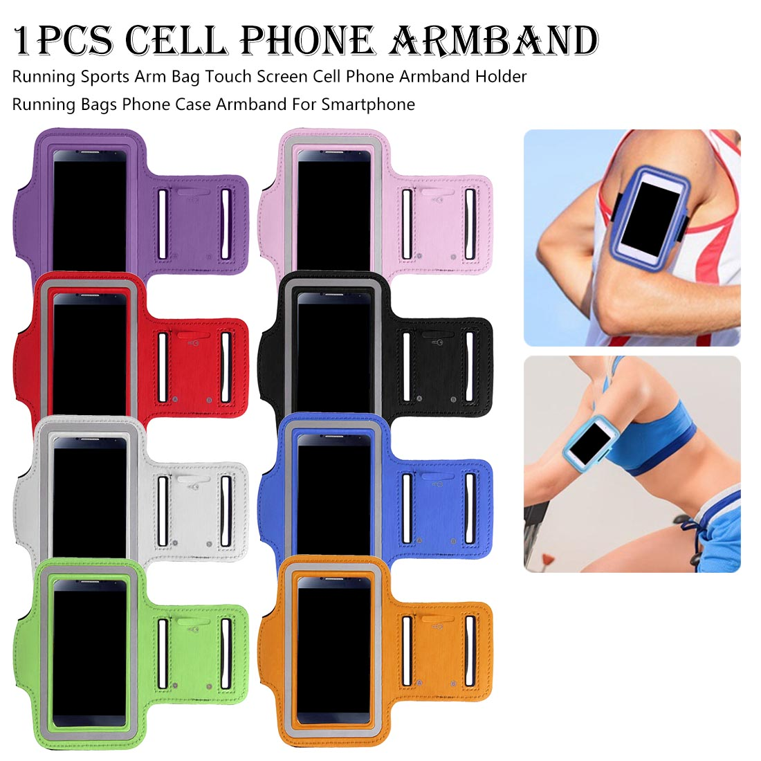 Outdoor Sports Mobile Phone Arm Bag Men And Women Fitness Wrist Running Mobile Phone Sets Waterproof Multi-function Arm Band