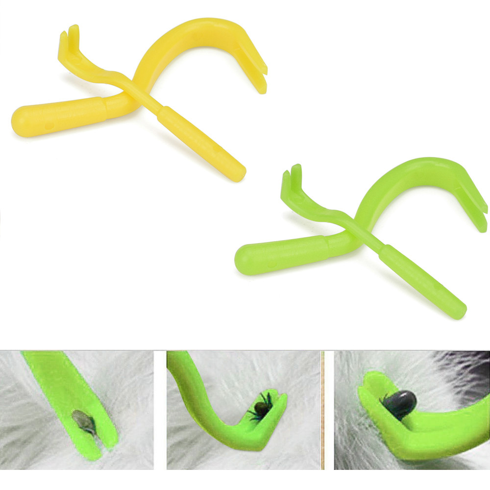 4Pcs Multi Functional NEW Pack x 2 Sizes Tick Remover Hook Dog Pet Accessories Tool Human/Dog/Pet/Horse/Cat Useful ...