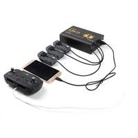RC Drone Spark Accessoires Dubbele USB 5 in 1 Intelligente Opladen Parallel Charger voor Afstandsbediening + Batterijen + Telefoon Charger