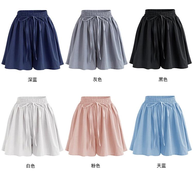 dab01abb26 Verano de 2019 ancho de la pierna pantalones cortos de las mujeres de gran  tamaño