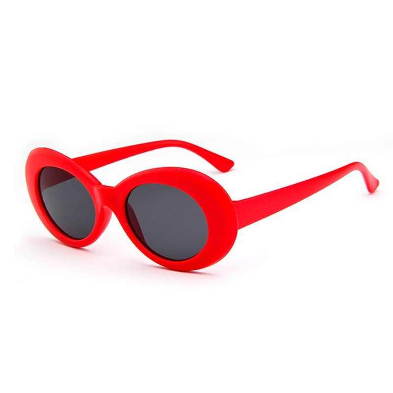 3adc54569b Unisex Vintage Retro Oval gafas de sol mujer hombres NIRVANA Kurt Cobain  gafas de sol redondas