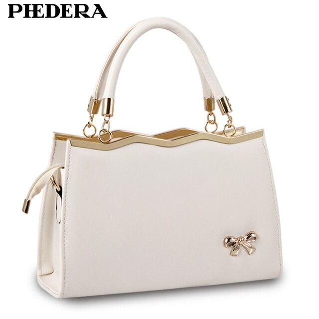 e7dd84954352 Spring Fashion Bowknot Women PU Leather Handbag Totes Korean Style Hand Bag  Female Hand Bags Designer