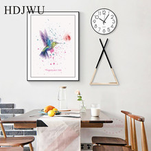 Nordic Painted Hummingbird Creativity Decor  Painting Art Canvas Wall Printing Pictures for Living Room Aisle DJ225