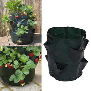 Image 2 - Potato Strawberry Planter Bags for Growing Potatoes Outdoor Garden Hanging Open Style Vegetable Planting Grow Bag Compost New