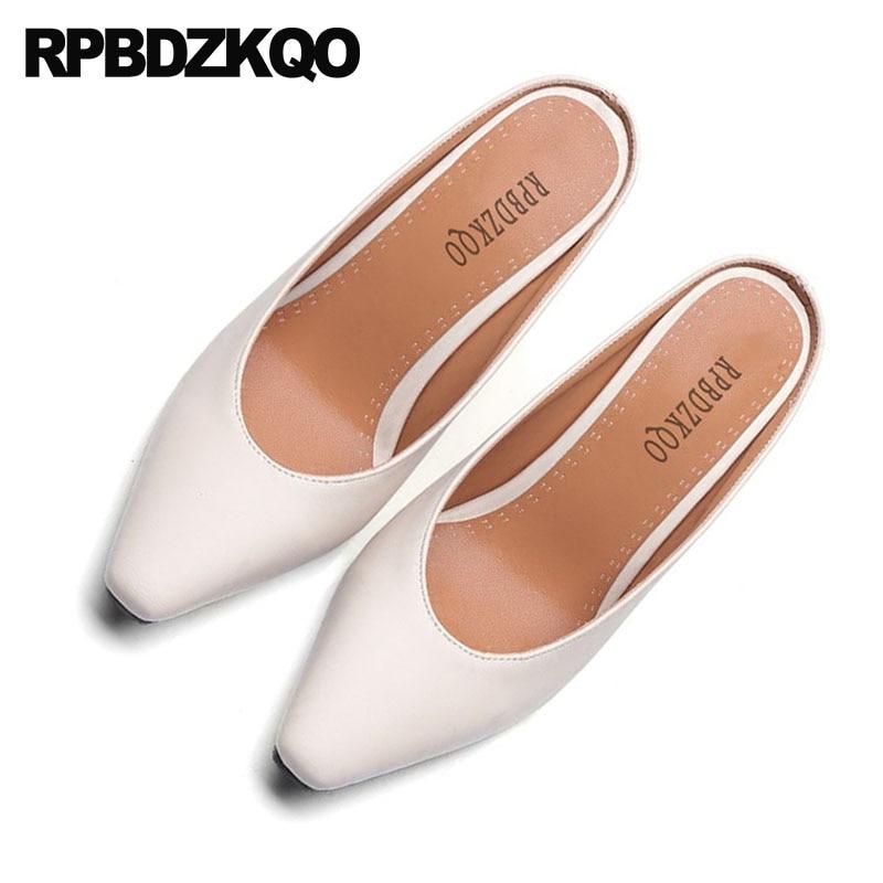 Für Schuhe 34 Größe grün Pantoffel Karree 4 gelb Heels schwarzes Beige High Chunky China Sexy 2018 Moderne Gelb Designer Maultiere Pumpen Beige Frauen Grün wxqnB4XHIT