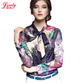 Women Blouses 2017 Spring European Shirts Women Long Sleeve Woman Floral Blouse And Tops Plus Size Euro Blusas Femininas