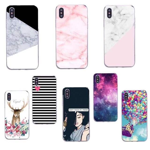 the best attitude d32f7 14c61 US $1.42 29% OFF|Marble For iPhone X 8 Plus iPhone 7 7plus 6 Case Sexy  Girly Soft Silicon Cover For iPhone 5S X Case Funda-in Fitted Cases from ...