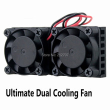 10pcs Gdstime Raspberry Pi Dual Fan Heatsink Cooler with Double Cooling Fans For Raspberry Pi2/3 Model B/ NESPI Case цена и фото