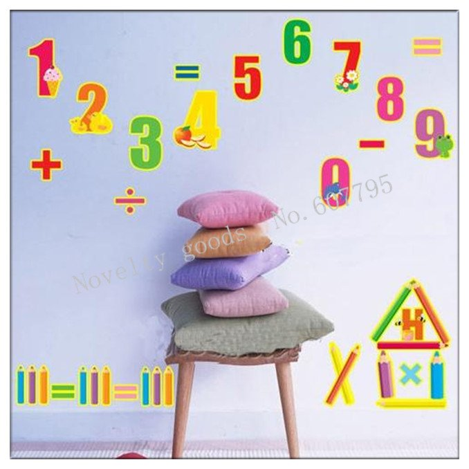 Digital Alphabet Wall Sticker Letter Animal Baby Learning Transparent  Removable Child Room Decor Mixable/Home ... Part 68