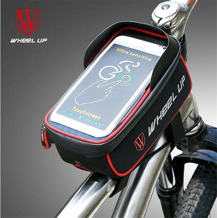 Wheel Up GPS Pouch Cycling Accessories Rainproof Bicycle Front Tube Frame Bag MTB Bike Touchscreen Phone Bags Waterproof
