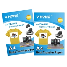 ФОТО high quality a4 inkjet printer cotton t-shirt paper clothes heat transfer pape