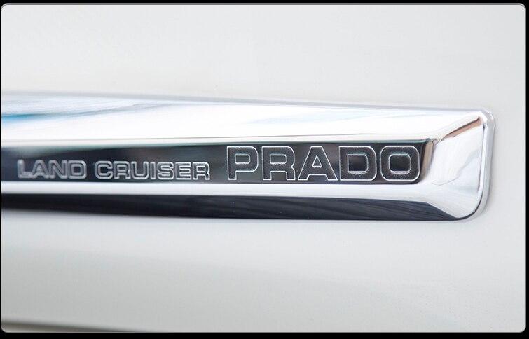 Garniture de couvercle de moulage latéral de carrosserie de voiture d'origine en Chrome pour accessoires Toyota Land Cruiser Prado FJ150 2018 - 3