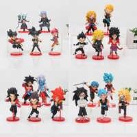 5 unids/set de la bola del dragón del WCF Zeno Goku troncos towa vegeta freezer gohan Super pelota de dragón de los héroes 7th aniversario figura de acción juguete
