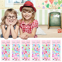 10 Sheet Multicolor Self-Adhesive Rhinestone Stickers Bling Flatback Gems Crystal Decal Stickers DIY Scrapbooking Craft Toy