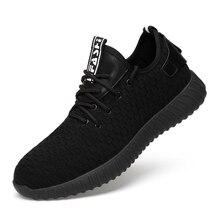 Для мужчин защищенный проколостойкие Сталь носком Кепки рабочая обувь безопасная обувь черный износостойкие дышащая мужская Рабочая обувь сапоги