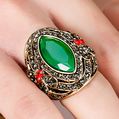 Luxury brand women rings wedding accessories fine antique gold ring luxury brand women rings wedding accessories fine antique gold ring anellos ouro turkish design emerald jewelry aloadofball Image collections