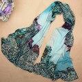 2015 Nova Chegada da Cópia do Leopardo Cachecóis Inverno Canadá Praia Xales De Seda Longo Cachecol Hijab Lenços Das Mulheres Presente Para O Amante WJ004