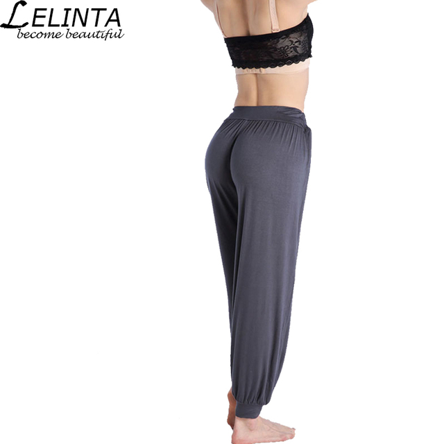 612ea0fb1e6 LELINTA M L XL 2XL Size Yoga Pants Women Dancing Trouser Sport Yoga Pants  Super Soft Light Loose Lantern Gym Pants