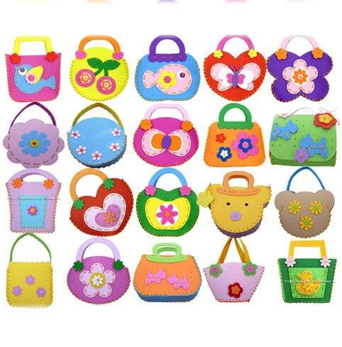 buy 12pcs lot handmade kids bag craft kit. Black Bedroom Furniture Sets. Home Design Ideas