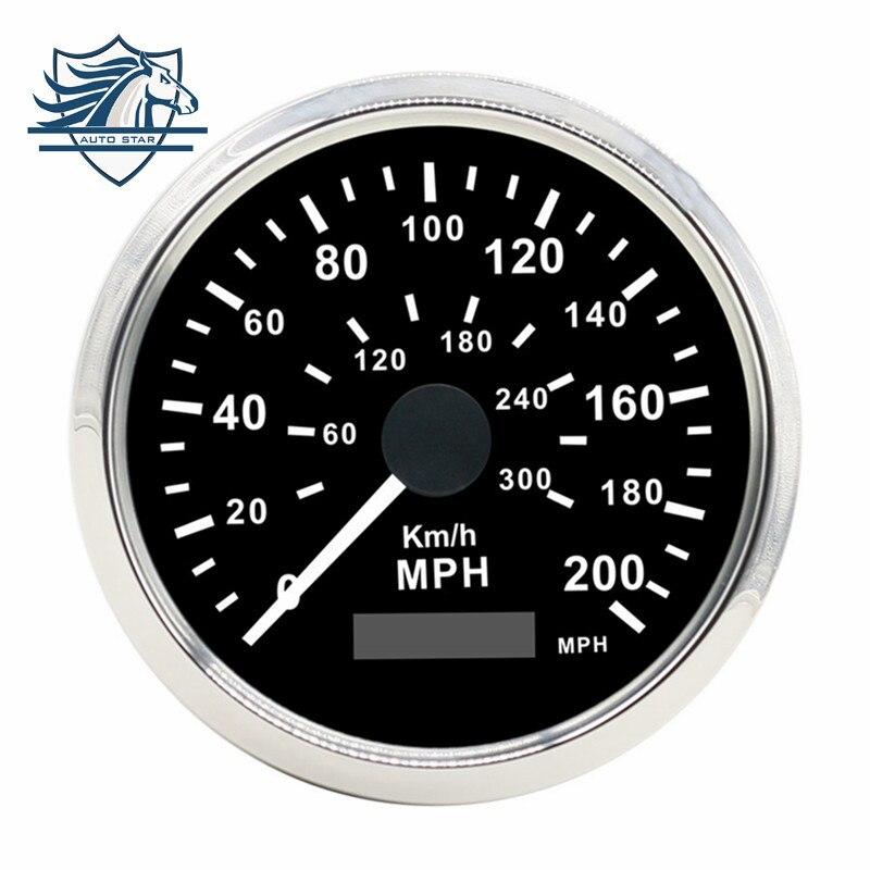 ФОТО Universal 85mm Car Truck GPS Speedometer 200MPH 300KMH Stainless Steel bezel Waterproof Digital Gauges