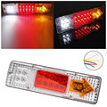 2PCS 12V 24V Caravan Led Trailer Tail Lights LED Rear Turn Signal Truck Trailer Lorry Stop Rear Tail Indicator Light Lamp