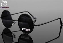 =CLARA VIDA= High-grade Aluminum Magnesium Alloy Retro Round Mens Womens Polarized Sunglasses Tac Enhanced Polarised Sun glasses