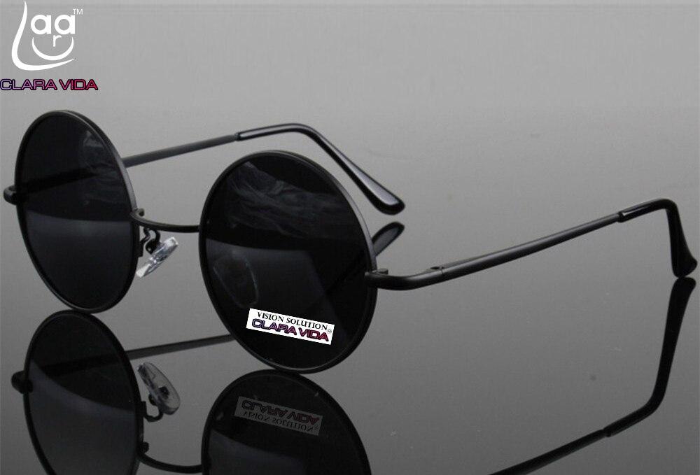 = CLARA VIDA = de Haute qualité En Aluminium Magnésium Alliage Rétro Ronde Des Femmes Des Hommes lunettes de Soleil Polarisées Tac Renforcée Soleil Polarisé lunettes