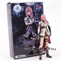 Dissidia Final Fantasy XIII Lightning Eclair Farron PVC Action Figure Play Arts Kai Model Toy Collection