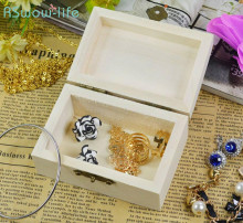 Rectangular Wooden Box Vintage Jewelry Creative Crafts Gifts Festival Party Supplies