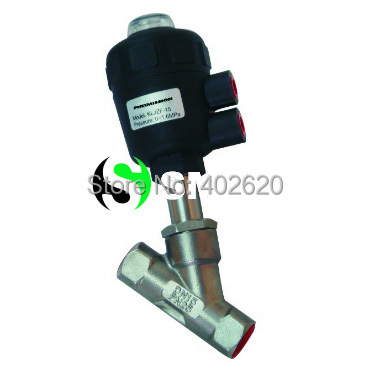 free shipping 1/2'' Inch Port Pneumatic Angle Seat Piston Valve, DN15 2 way Stainless Steel free shipping 1 2 inch port pneumatic angle seat piston valve dn15 2 way stainless steel