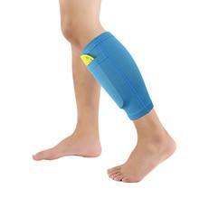 1 пара, футбольные защитные футбольные мужские носки, защита голени с карманом для Футбольные Щитки на голень, рукава для ног, поддерживающие взрослых