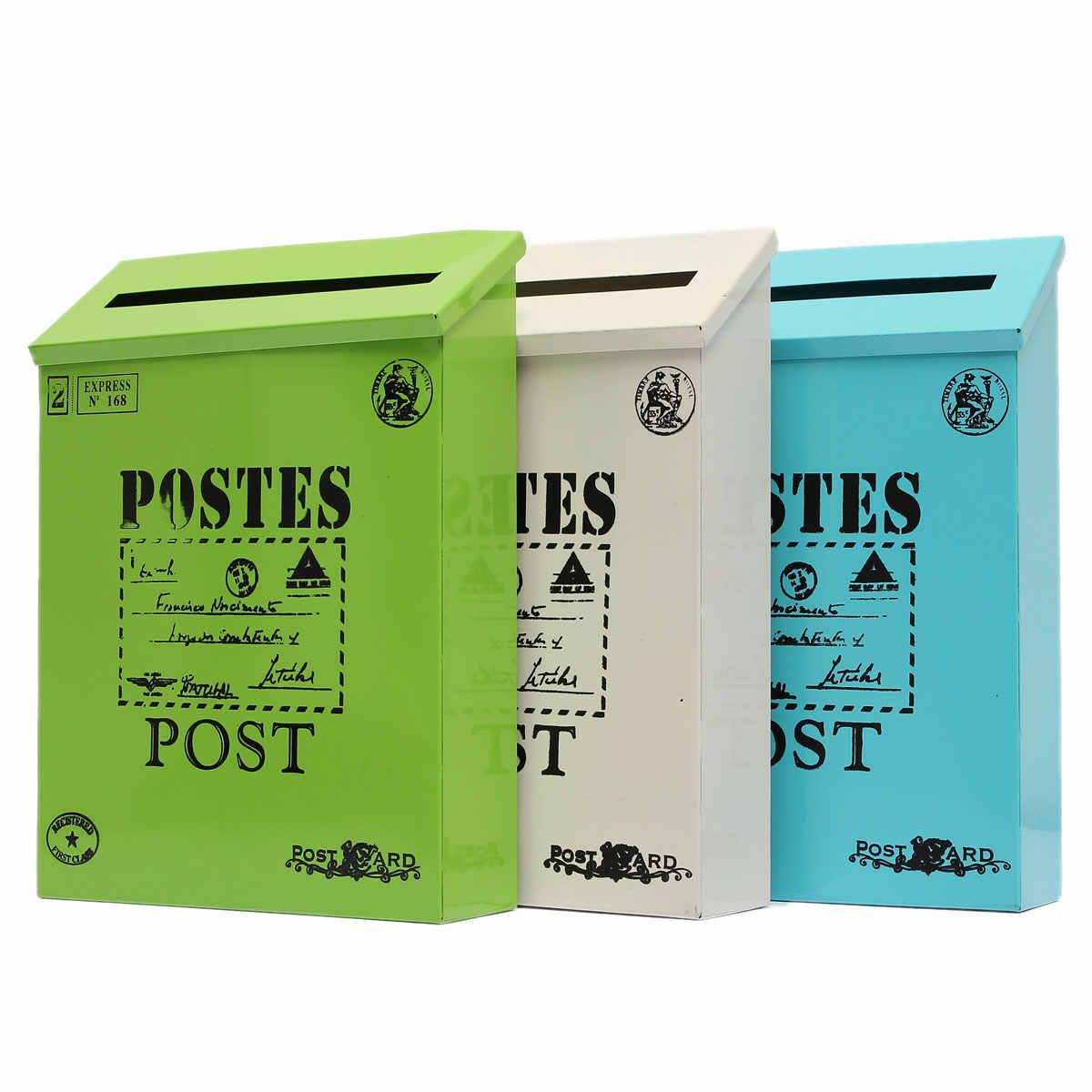 Металлические буквы настенный почтовый ящик Винтажный стиль открытый домашний сад украшения