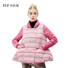Elf SACK мода новое прибытия 2015 зима конфеты цвет платье-линии толстый сладкий хлопок пальто стоять воротник бесплатная доставка