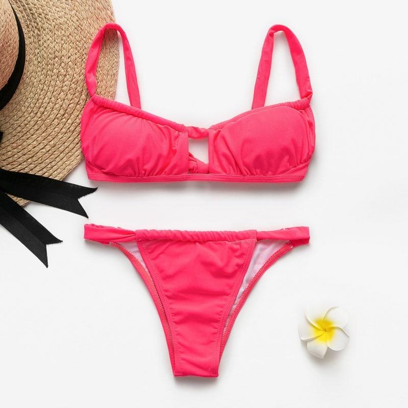 HTB12tY1RQvoK1RjSZFwq6AiCFXaR Peachtan Sexy pink swimwear women bathing suit Bandeau bikinis 2019 mujer Micro swimsuit female Push up two-piece suit summer