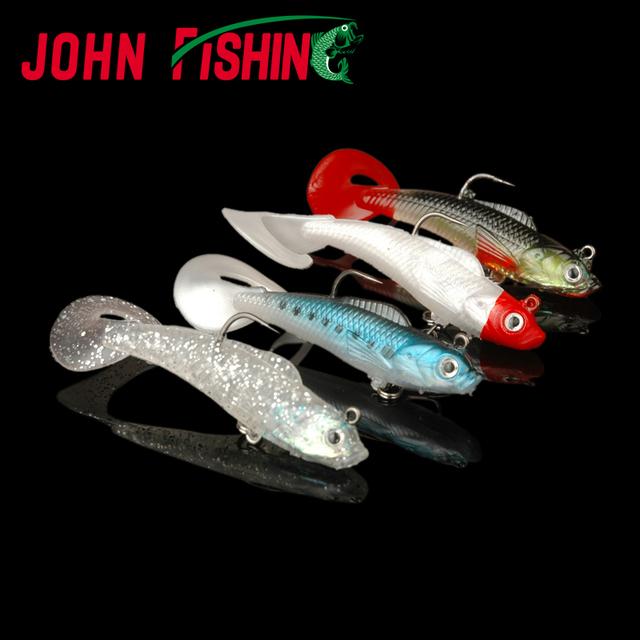 John Fishing 5pcs Pack Lifelike Soft Bait with Hooks