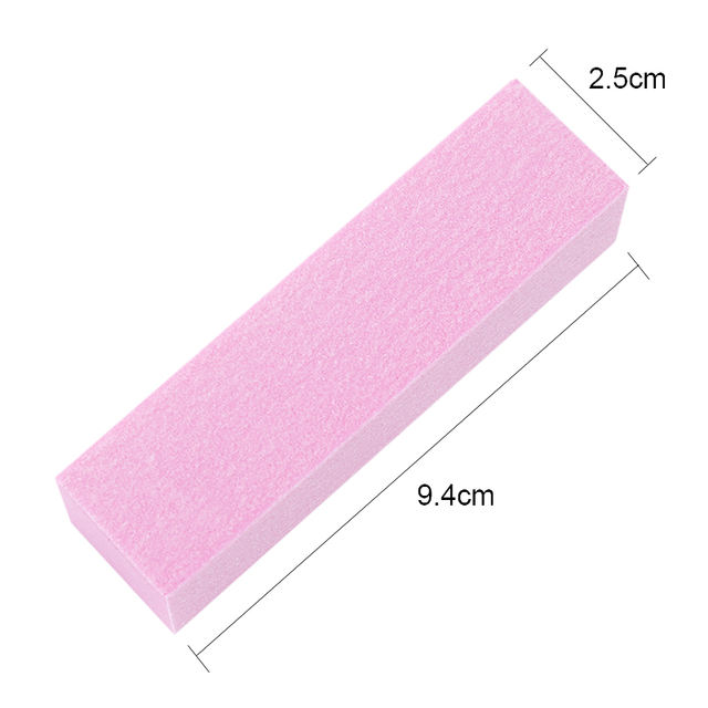 10Pcs Pink White Sanding Nail File Pink White Sanding Sponge Nail Buffers Files Block Grinding Polishing DIY Nail Art Tools