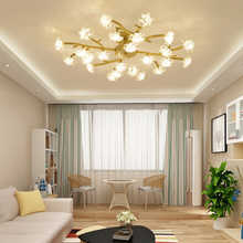 Gold Silver Colour Led Twig Ceiling Light Living Room Illumination Gl Flower Bedroom Fixtures Iron Art Energy Saving Lamps