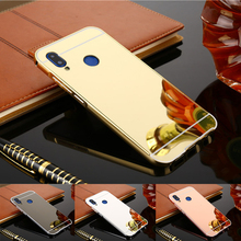 For Xiaomi Redmi Note 7 Case Luxury Rose Gold Mirror Protective Back Cover Phone Pro Note7 7s