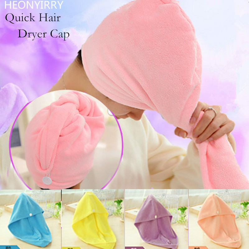 56 X 22cm Turban Hair-Drying Shower Caps Towel Women Absorbent Microfiber Bath Towel Bathrobe Hat Hair Wraps Bath Accessories
