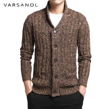 Varsnaol New Brand Sweater Men V-Neck Solid Slim Fit