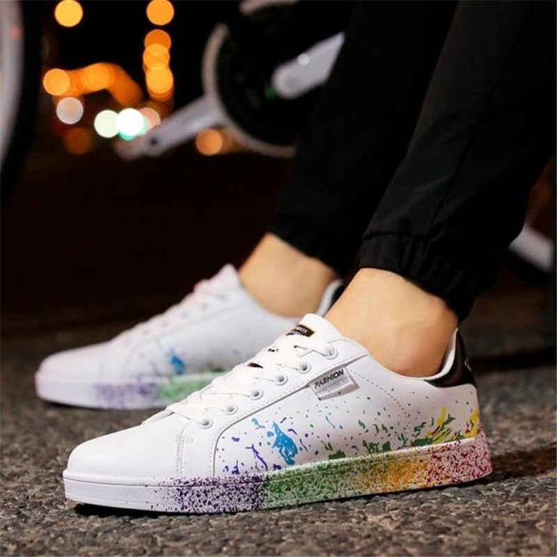 Hot Sale Camouflage White Lovers Shoes Fashion Casual Shoes Man Unisex Korean Students All-Match Zapatos Hombre Breathable